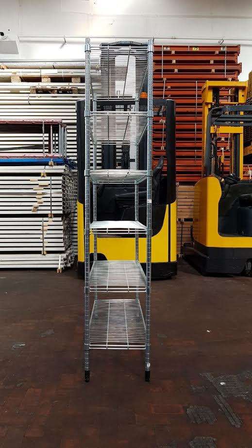 Scaffalatura leggera in acciaio galvanizzato usata for Ikea scaffali usati
